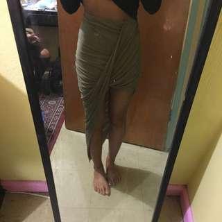 Bardot Khaki Skirt 6