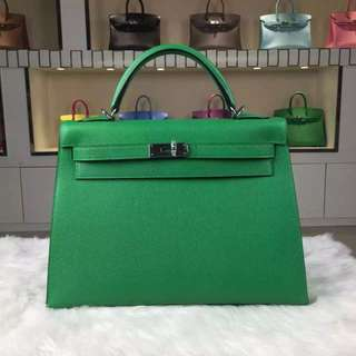 Kelly Hermes Emerald Green