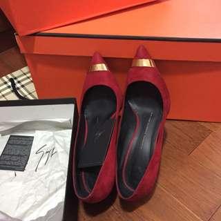 🚚 義大利鞋王 Giuseppe Zanoti Design紅金麂皮