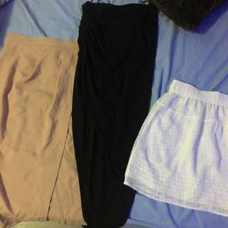 Skirts (ASOS, ICE and Sportsgirl)