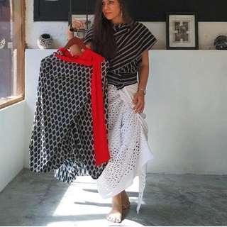 JUAL RUGI Lulu Lutfi Labibi drapery skirt