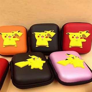 [INSTOCKS SALE!] Pokémon Go Pikachu Cable cum Earpiece Pouch *RED & ORANGE ONLY*