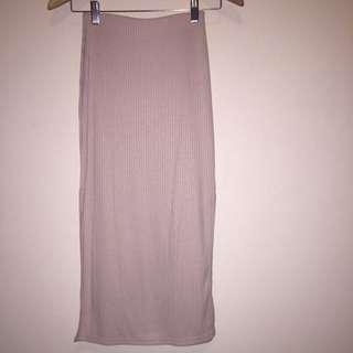 Bardot - Nude Midi Side Split Skirt