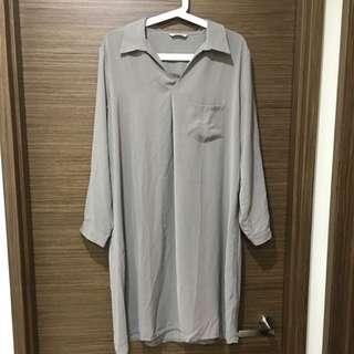 秋冬先跑👅雪紡長版上衣(保留)