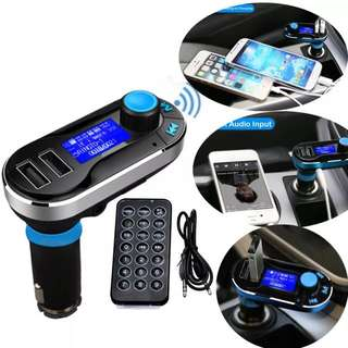 BLUETOOTH HANDSFREE CAR KIT MP3 PLAYER CHARGER IPHONE SAMSUNG