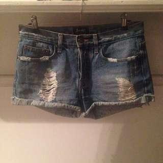 Bardot Cutoff Denim Shorts