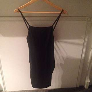Black Bodycon Dress with Low Back