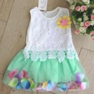 Dress Anak - Sun Flower Green