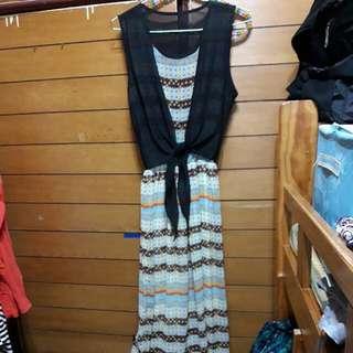 (保留)韓國買的無袖長裙#1111女裝買太多