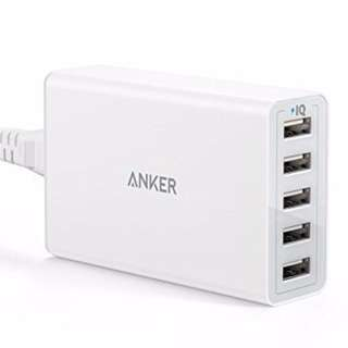 Anker PowerPort 5 USB Charger [White]