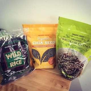 美國代購 奇亞籽 藜麥 野米 chia seeds/ quinoa/ wild rice