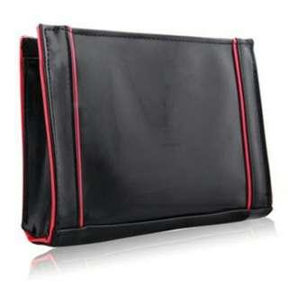 YSL黑桃紅時尚手拿包
