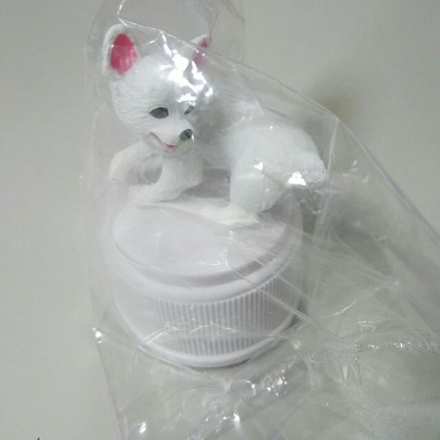 瓶蓋狗狗-白色吉娃娃