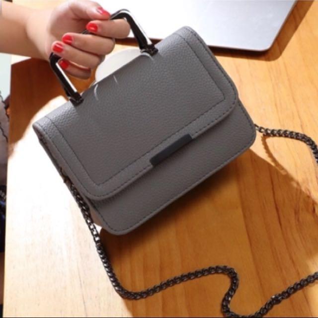 🎉現貨🎉荔枝纹手提單肩小方鏈包