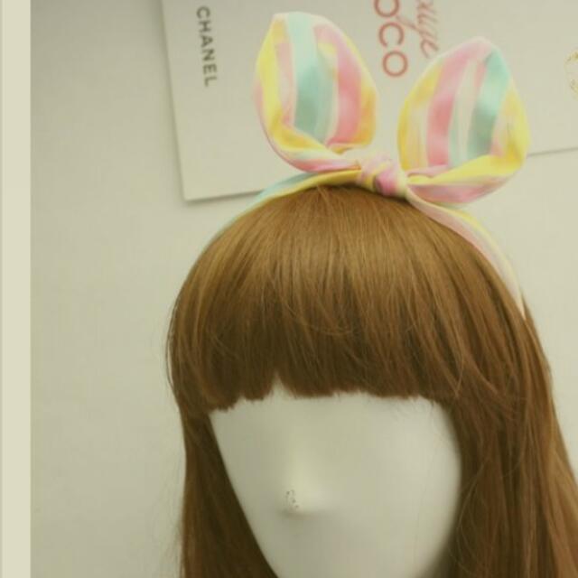 全新 VIVI甜美風  清新黃 髮箍