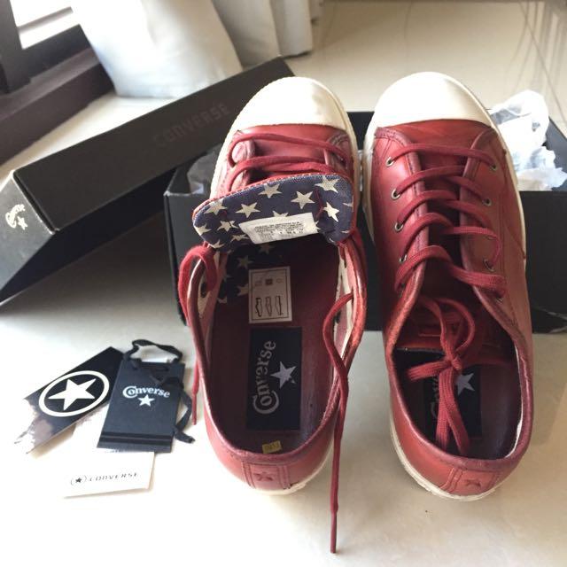 All Star真皮限量版帆布鞋(韓國購買)23號
