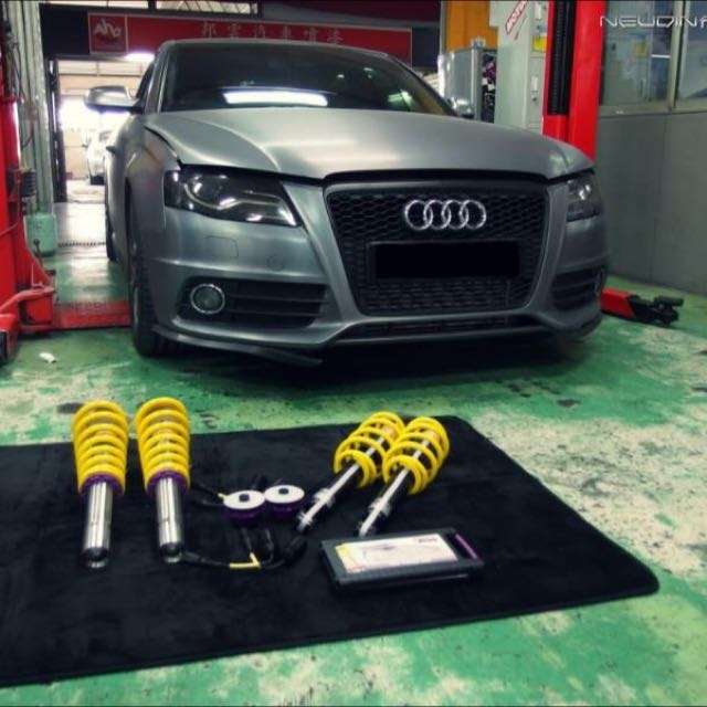 Audi A4 B8 Install KW Street Comfort Coilover