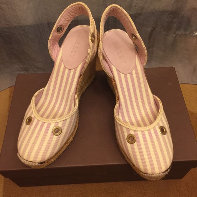 Bally正品甜美楔型涼鞋37