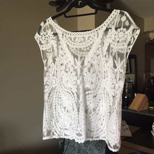 Beautiful White Lace Top
