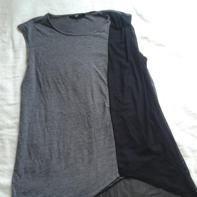 Black and Grey Flow Shirt