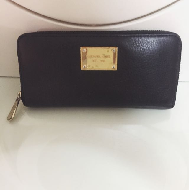 Black MK Wallet