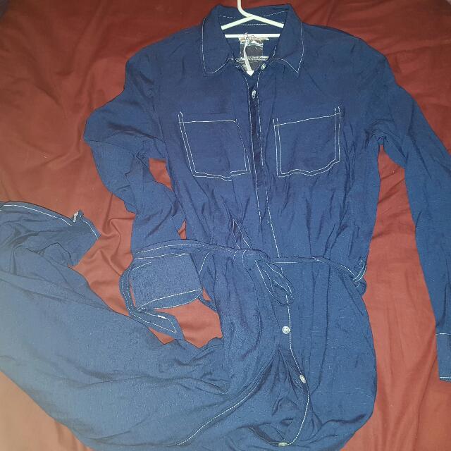 Blue Long Modesty Shirt