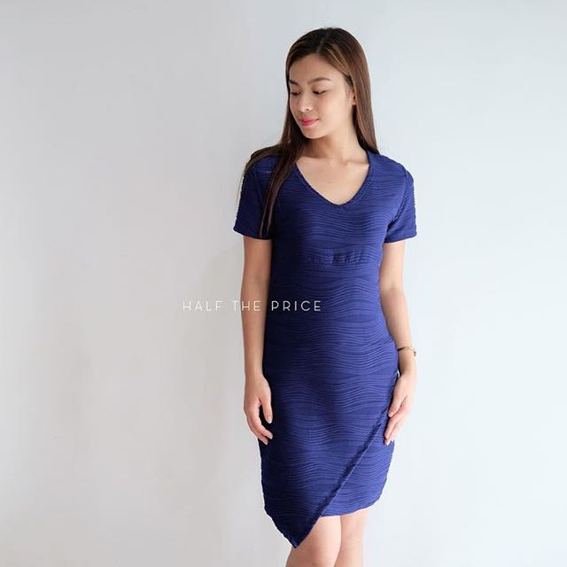 Blue Origami Dress