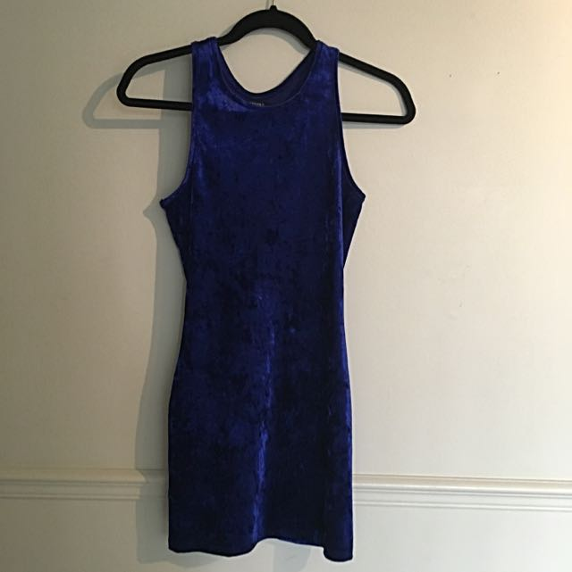 Blue Velvet Forever 21 Tight Dress