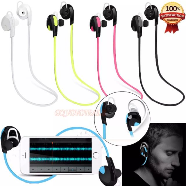 BLUETOOTH WIRELESS EARPHONES FOR IPHONE 7 SAMSUNG