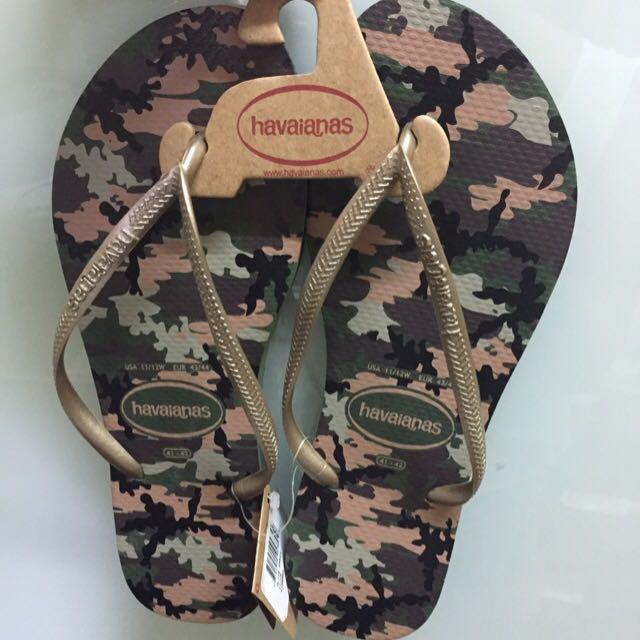 848690377 BN Havaianas Slim Green Flip Flop Size 41-42