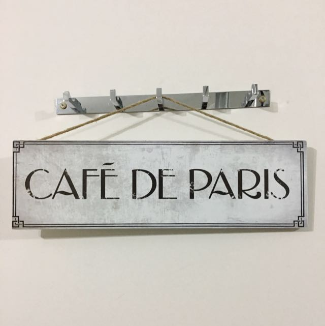 Cafe De Paris Wall Decor