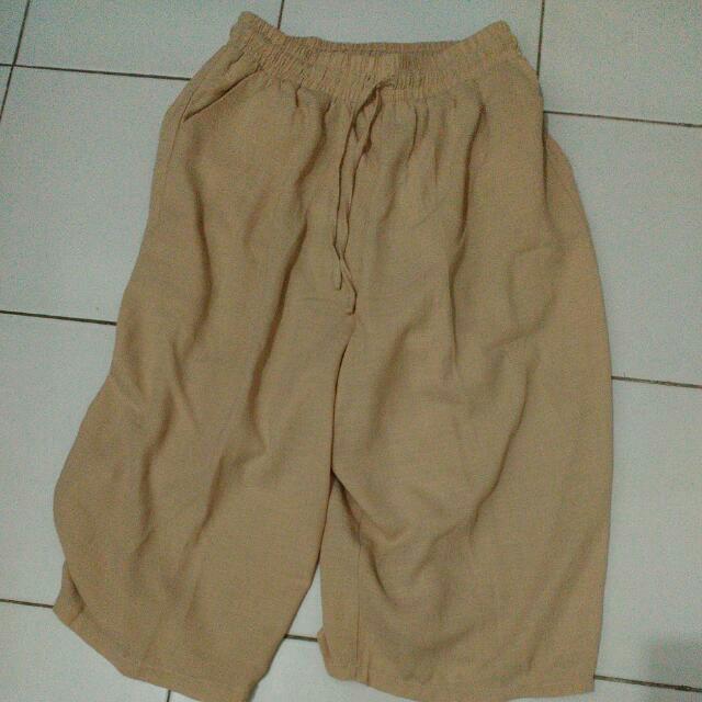 Celana Kulot Warna Cokelat Khaki