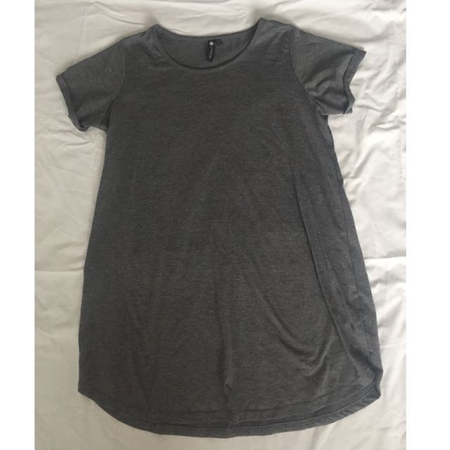 Cotton On T-shirt Dress In Grey