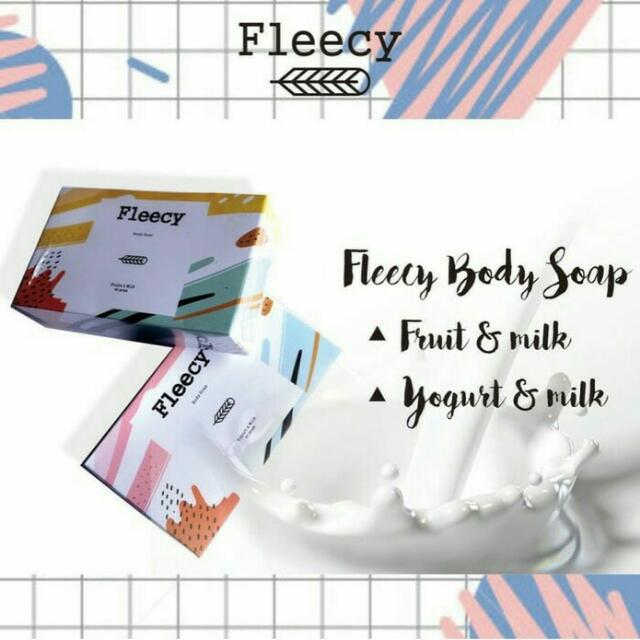 Fleecy Whitening Soap / Sabun Pemutih Fleecy / Original 100%