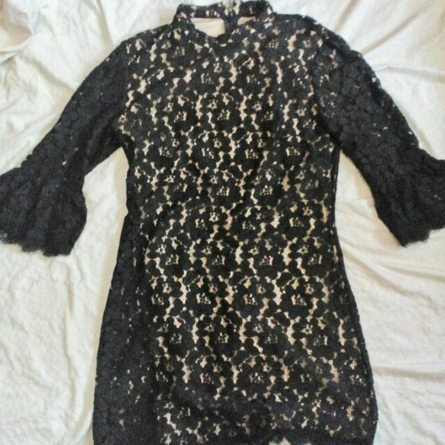 Forever21 Black Lace Dress