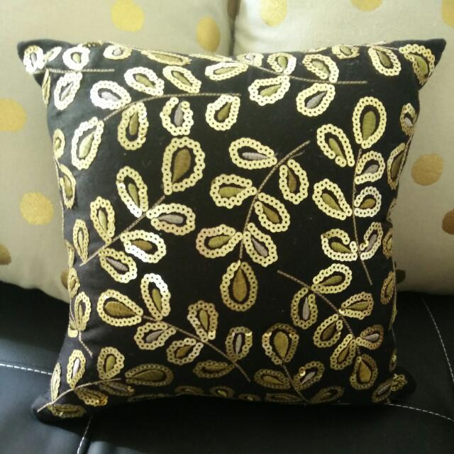 Glamour Gold Leaf Cushion