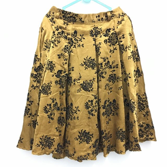 Gold Flower Skirt