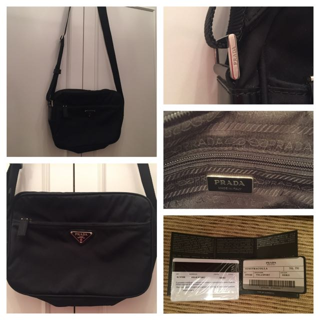6abe32fe8f2a Great Condition Prada Vela Sport Messenger Bag, Luxury, Bags & Wallets on  Carousell
