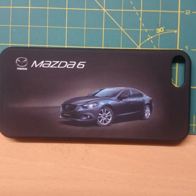 i phone 5/5s MAZDA霧面消光黑手機殼+前後保護貼