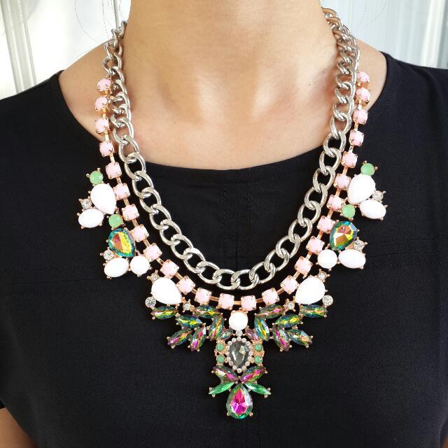 Kalung Fashion Chain Gemstone