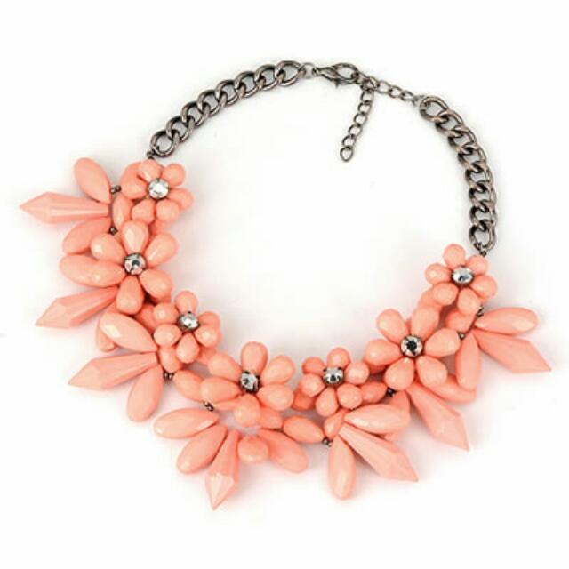Kalung Fashion Korea Pink Petal