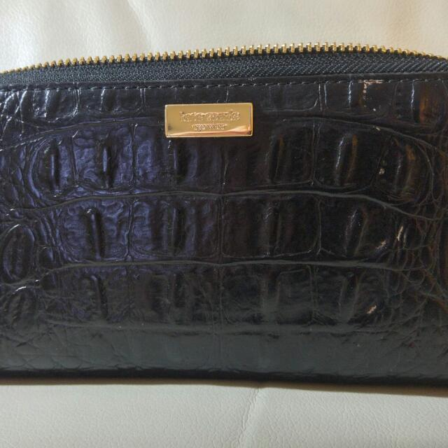 Kate Spade Black Wallet EUC