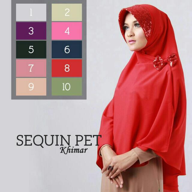 Khimar Sequin Pet Sayra [Yellos]
