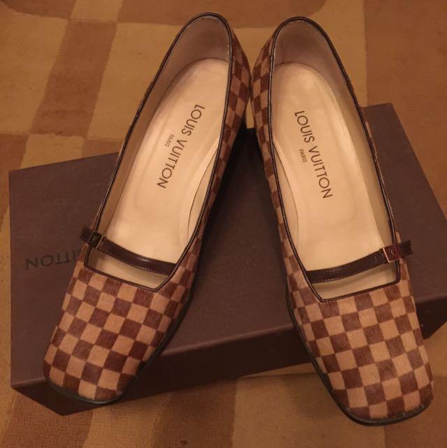 近全新LV限量馬毛鞋36.5