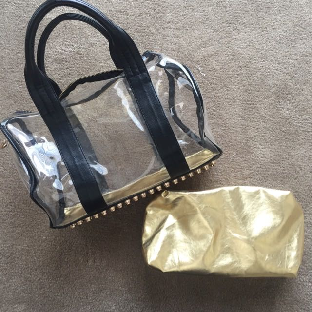 Nasty Gal Clear Bowler Bag