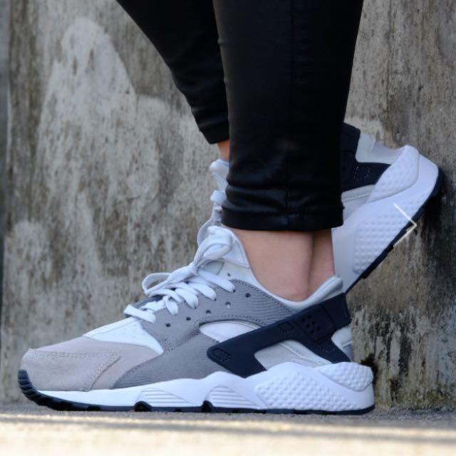 台灣公司貨正品Nike Air Huarache 黑白灰經典配色 武士鞋