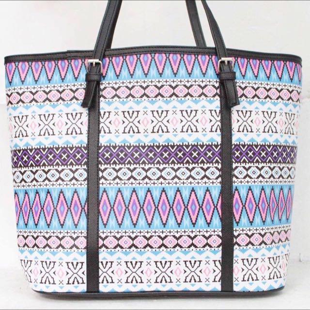 PATTERN PRINTED shopping bag