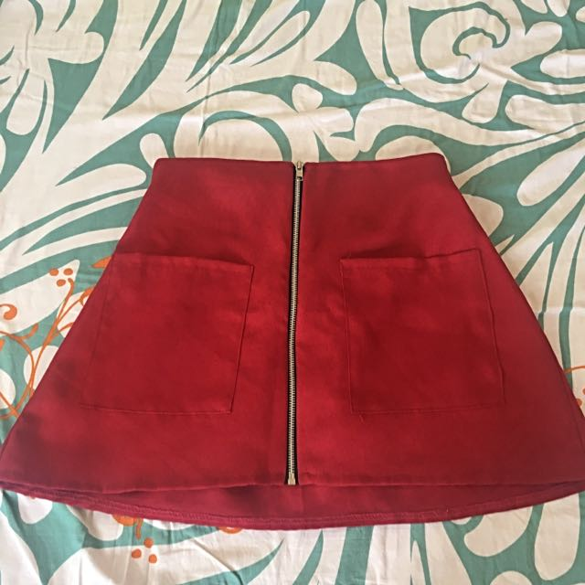 🚛 Free Shipping! 🚛 Red A-line Skirt #freeshipping