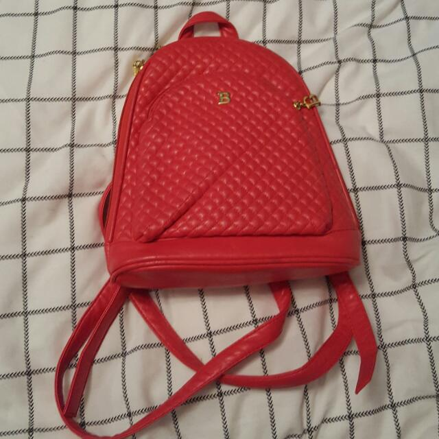 Small Red Cute Backpack