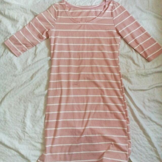 Stripe Dress (Pink)